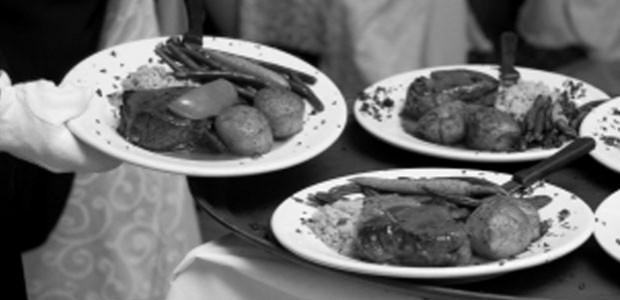 Wonderful meals being served